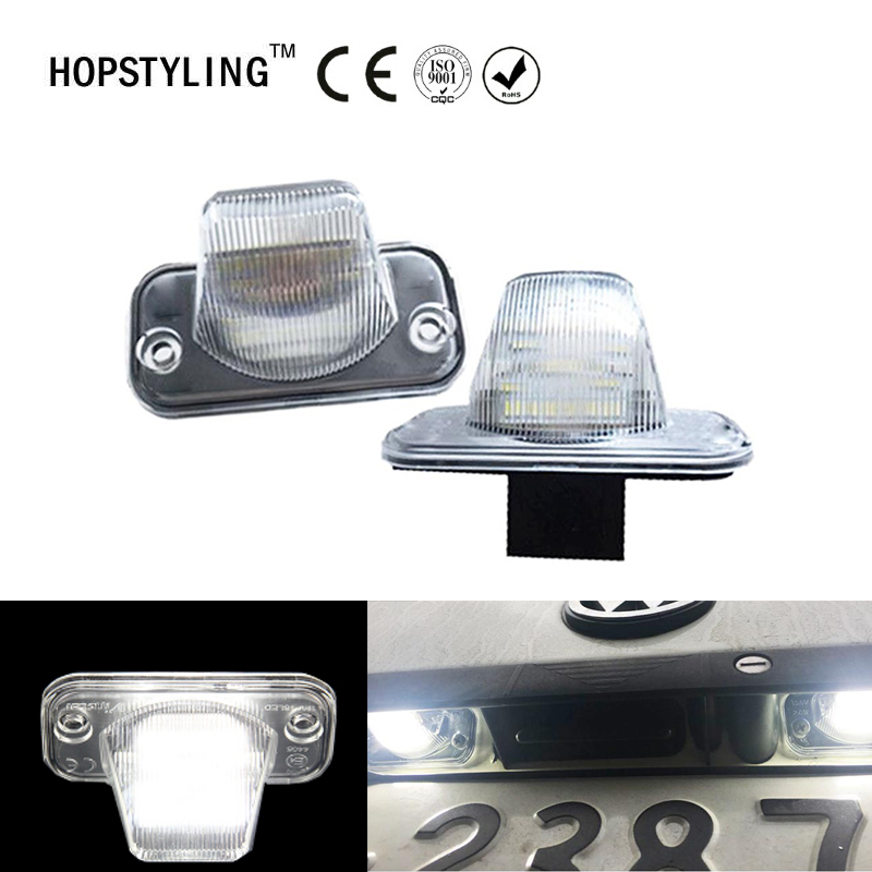 Hopstyling 2x smd led for VW T4 Passat B5 Candy Jetta Touran auto license plate light  LED COURTESY DOOR Light For Volkswagen no error car led license plate light number plate lamp bulb for vw touran passat b6 b5 5 t5 jetta caddy golf plus skoda superb