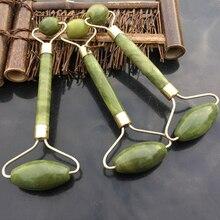1PCS Double HEAD ธรรมชาติความงามหน้านวด Jade Roller ใบหน้านวดบางผ่อนคลายเครื่องมือนวดหน้า Jade Roller