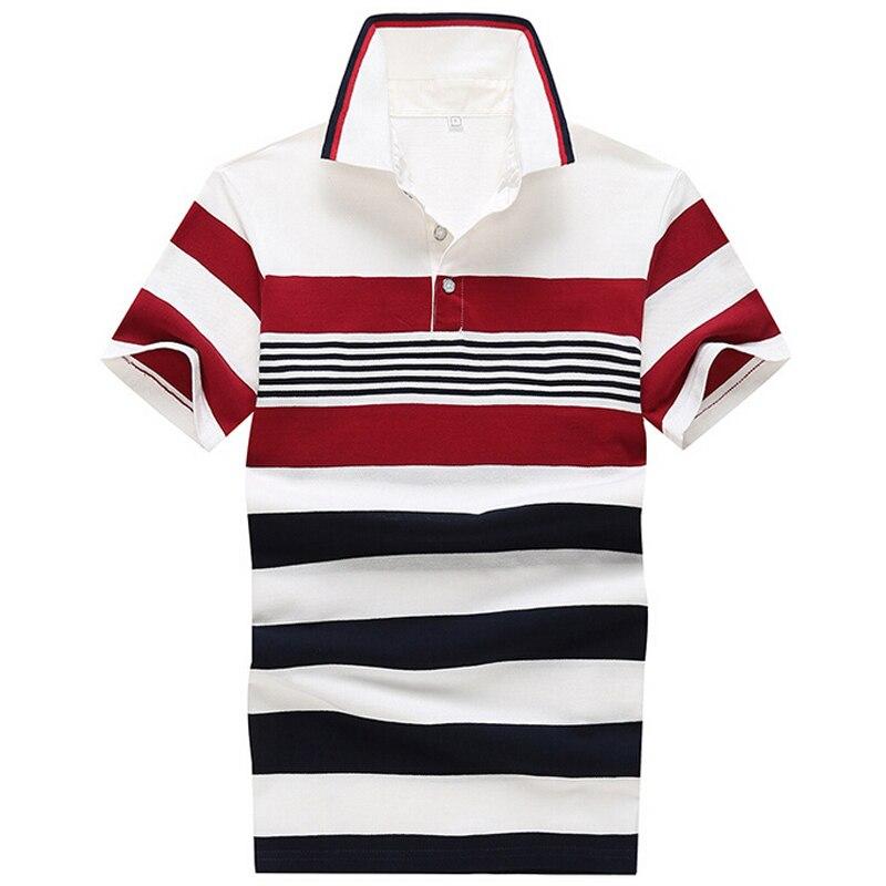 2017 camisa polo homens camisas listradas moda mens manga curta casual  camisetas masculinas camisa polo roupas de marca b800dcc143ff1