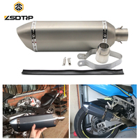 ZSDTRP 51MM Universal Motorcycle Dirt Bike Exhaust Escape Modified Scooter Akrapovic Exhaust Muffle Fit For Most