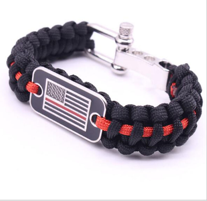 Arts,crafts & Sewing Blue Leatherthin Blue Line Paracord Bracelet Usa America Support Lives Police Matter Survival Bangle Bracelet Fixing Prices According To Quality Of Products Home & Garden