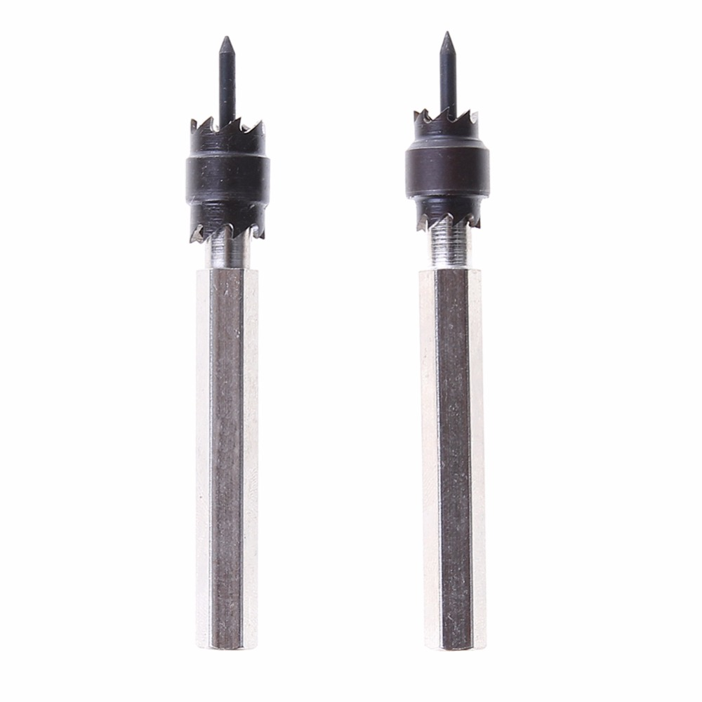 2pcs Hss Double Sided Rotary Spot Weld Cutter  Remover Sheetmetal Drill Drill Bits Hex Shank Electric Tools 9.5mm scotch weld dp 490 в волгограде
