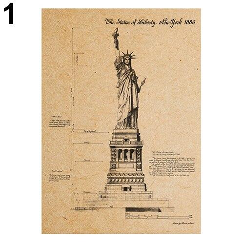 Vintage Retro Motif Imprimer Carte Kraft Papier Antique Affiche Wall Sticker Room Decor Aliexpress
