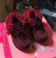 Cctwins niños moda de invierno pu botas de cuero para niños gray shoes marca de niño botas botas de piel de bebé muchachas de la mariposa negro