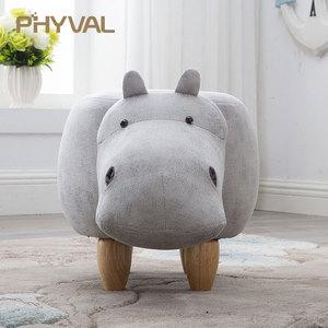 Image 2 - 2018 apressado nenhum novo puff poire taburetes cadeira de madeira fezes sapatos hipopótamo designer mobiliário sofá de armazenamento contendo moderno