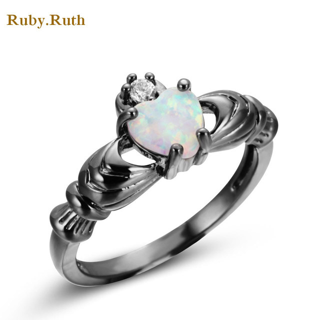 Aliexpresscom Buy Wedding Heart Rings Blue Stone Jewelry Women