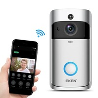 EKEN Smart Home Video Doorbell 2 720P HD for Wifi Camera Real Time Video Two Way Audio Wide angle Lens Night Vision PIR Motion