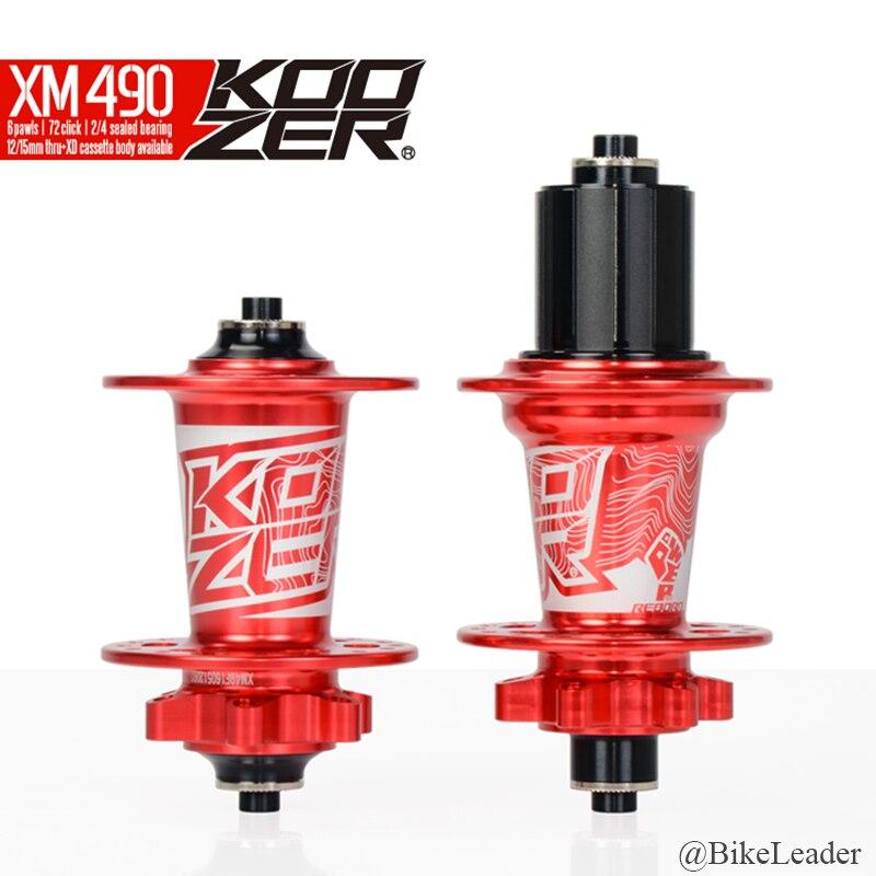 Koozer XM490 roulement scellé vtt DH XC moyeux VTT 28 32 36 trous frein à disque 15 12 142mm à travers l'axe QR XD moyeu de vélo