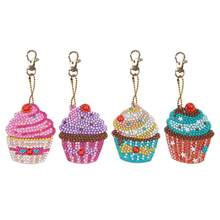 4pcs DIY Keychain Full Drill Special Shaped Diamond Painting Women Bag Cupcake Seamless Ingenious Festival Decorative Gifts(China)