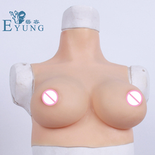 eyung 1600g pair d cup water drop silicone breast enhancer crossdresser sexy cleavage fake boob insert pads for mastectomy wome Eyung C Cup Silicone Fake Boobs Chest Erotic Tit Breast Plate Silicone for Male Crossdresser Transvestite Realistic Breast Boob