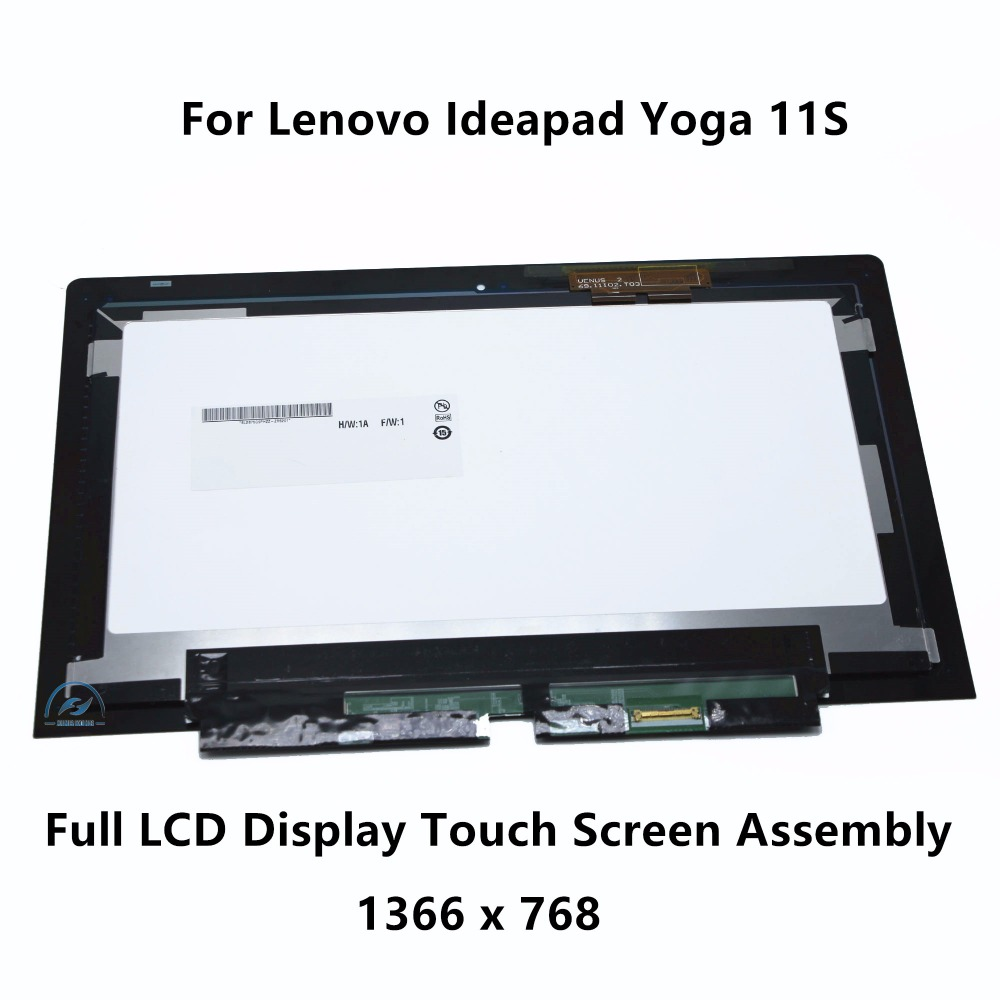 11.6 Touch Glass Digitizer + LCD Display Panel Screen Assembly For Lenovo Ideapad Yoga 11S 20246 Tablet 18200774 B116XAT02.0 black white gold for huawei mate s lcd display touch screen glass panel digitizer assembly tools free shipping
