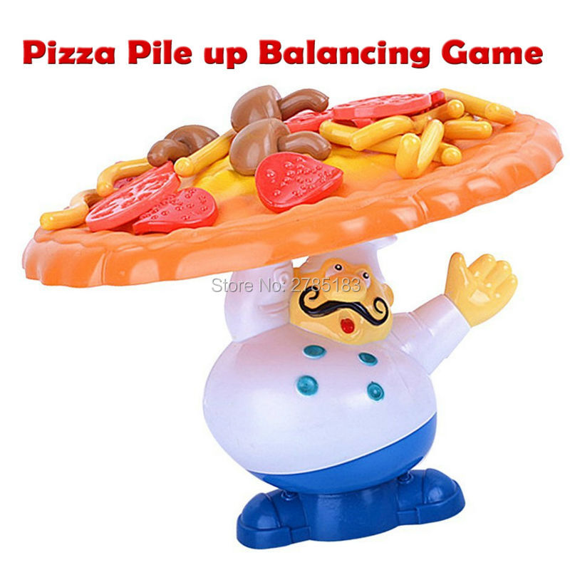 Interactive Incline Pizza Pile up Balancing Game,Dont Let Them Fall of the Pizza Children Great Family Fun educational toys ...