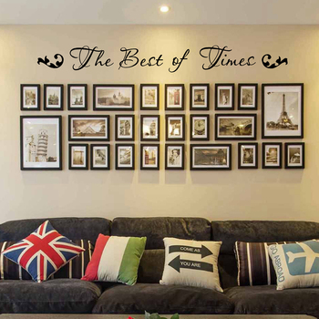 """""""The Best of Times"""" Family Photo Quotes Vinyl Wall Sticker Modern Home Wall Art Decals Decoration 1"""