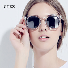 GYKZ Retro Round Sunglasses Women Men Brand Design Transparent Female Sun glasses Oculos De Sol Feminino Lunette Soleil