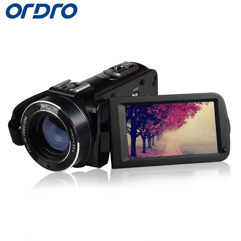 Ordro HDV-Z20 HD 1080P 30fps 16X Reflex Digital Cameras Wifi APP Control Video Recorder CMOS Professional 24MP Photo Camcorders