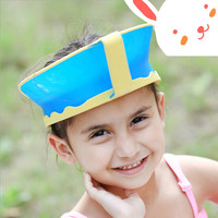 New Kids Bath Visor Hat Adjustable Baby Shower Cap Protect Shampoo Hair Wash Shield For Children