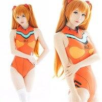 Neon Genesis Evangelion Ayanami Rei Ikari Shinji Soryu Asuka Langley Cosplay Costume EVA One Pieces Spandex