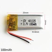 De Polímero Iões para Mp3 3.7 V 100 Mah de Lítio Lipo Bateria Recarregável Pad Dvd Gps E-book Bluetooth Caneta Fone Ouvido