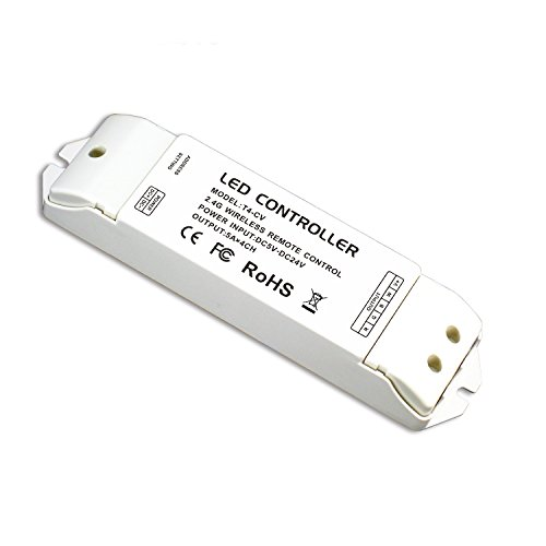 T4-CV Receiving controller 2.4G Wireless Constant Voltage LED Receiver Suitable for T1, T2, T2M, T3, T3M, T3X, T4 Remote Control 1x high quality 90 108w 2 chanel 2 4g cct adjustable constant voltage led driver 2 4g led remote controller free shipping