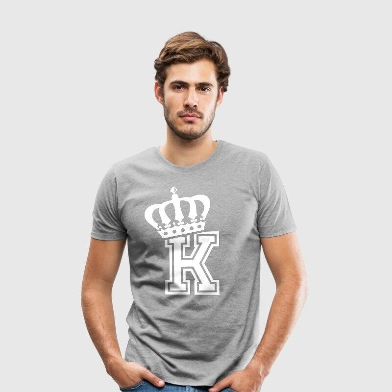 T Shirt Graphic T Shirts Men Clothes 2018  Men T Shirt Tops Graphic Tees Plus Size KING Crown Black Grey Red T Shirt XS-3XL