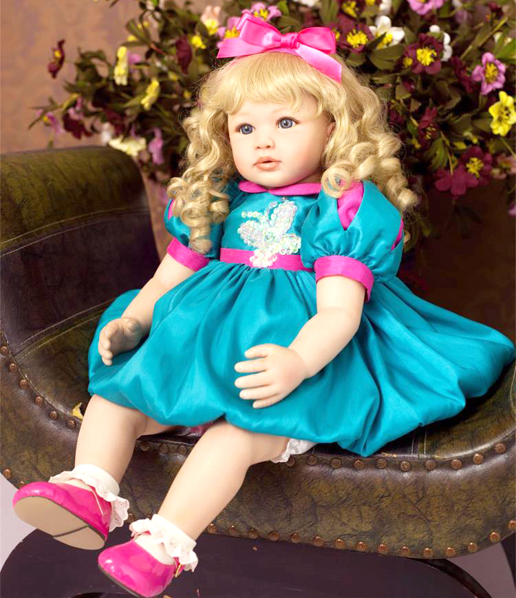 24 60cm New arrival Handmade Silicone vinyl adorable Lifelike toddler Baby Bonecas girl kid bebe doll