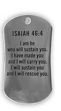 Wholesale Christ Image Stainless Steel Dog Tag Necklace-Isaiah 46:4 hot sales bible  pendants Necklace FH890382