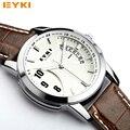Relogio masculino original EYKI Nuevo reloj de Los Hombres Reloj de Cuarzo de Cuero Relojes Hombres Reloj Militar Hombre Reloj Hombre Relojes Casuales