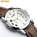 relogio masculino original EYKI New Brand Men Watch Leather Quartz Watches Men Military Watch Male Clock Man Casual Watches