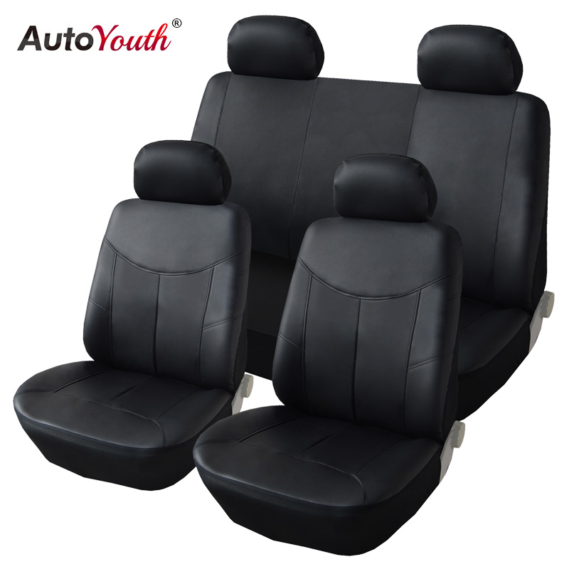 AUTOYOUTH PU Leder Autositzbezüge Auto Universal Sitzbezüge für Toyota Lada Kalina Granta Priora Renault Auto Zubehör