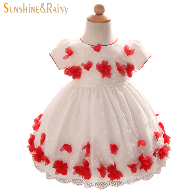 2b53e2781db2f Sunshine Rainy Flower Girls Wedding Birthday Dress Lace Embroidered Baby  Girl Party Tutu Dresses Princess Infant Kids Clothing-in Dresses from  Mother ...