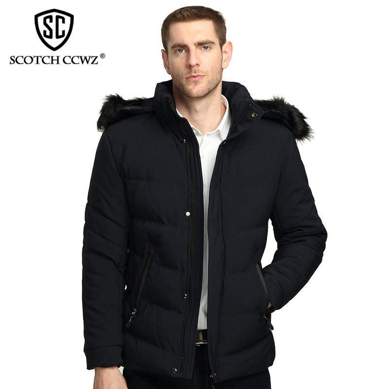 SCOTCH CCWZ Brand RU/EU size Thick Keep Warm Casual Winter Jacket Men Parkas Overcoat 2017 New Jackets And Coats Clothing 71718 free shipping winter parkas men jacket new 2017 thick warm loose brand original male plus size m 5xl coats 80hfx