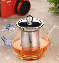 New Products Chinese 300ml Tea Pot Heat Resistant Glass Food Grade Tea pots With Inner Filter Home&office Easy to take Pot