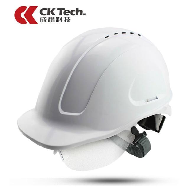 3672afbe4e2f5 CK Tech marca Cascos DE SEGURIDAD ABS protectora Gafas capacete Sombrero  duro trabajo de construcción Cascos