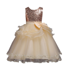 Explosion childrens clothing girls lace sequin dress princess birthday party performance show costume