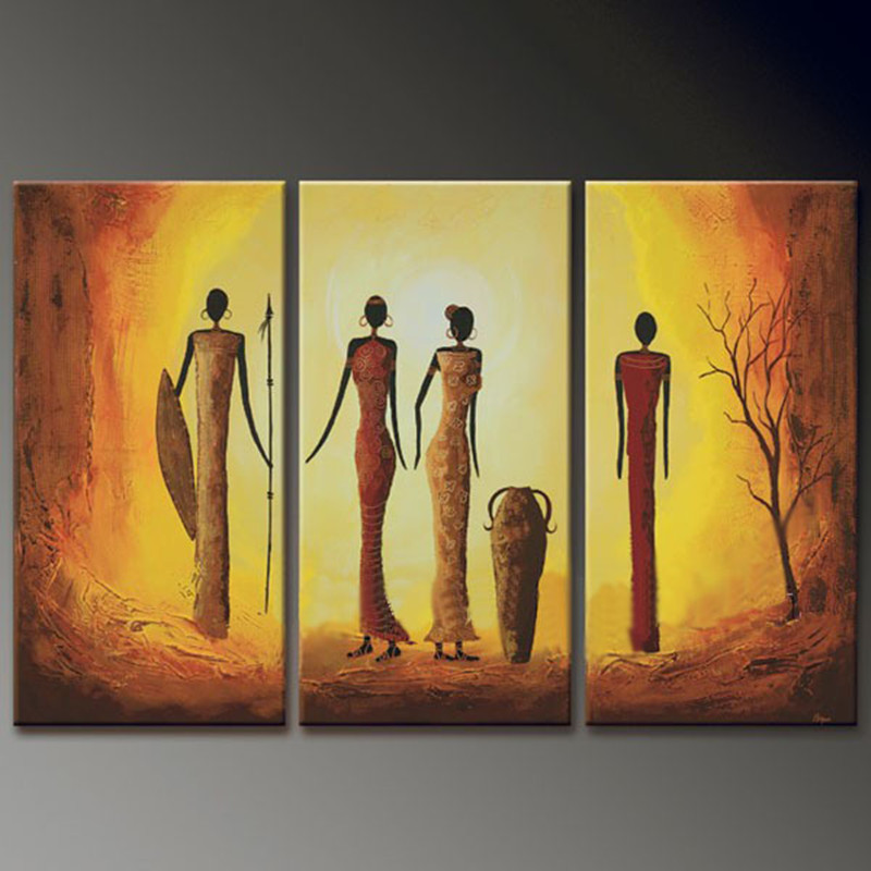 3 panel handpainted acrylic paintings canvas art pictures for Modern paintings for home