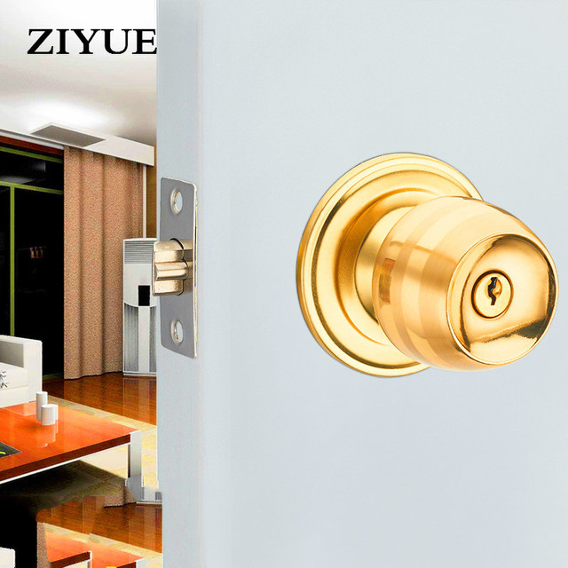 Free Shipping Stainless Steel Ball Lock Zinc Gall Bladder Lock Interior  Door Lock Bedroom Door Lock