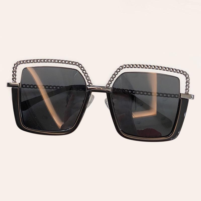 New Square Sunglasses Women Eyewear 2019 High Quality Alloy Sun Glasses For Female Brand Designer UV400 With Box
