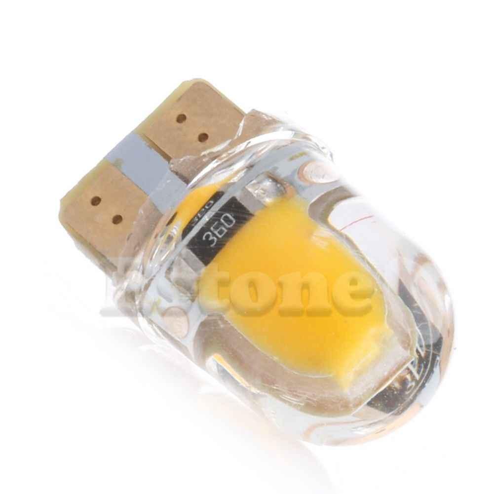 1pc T10 194 168 W5W 8 SMD LED Canbus di Silice Luminoso Luce Targa Lampadina bianco Caldo
