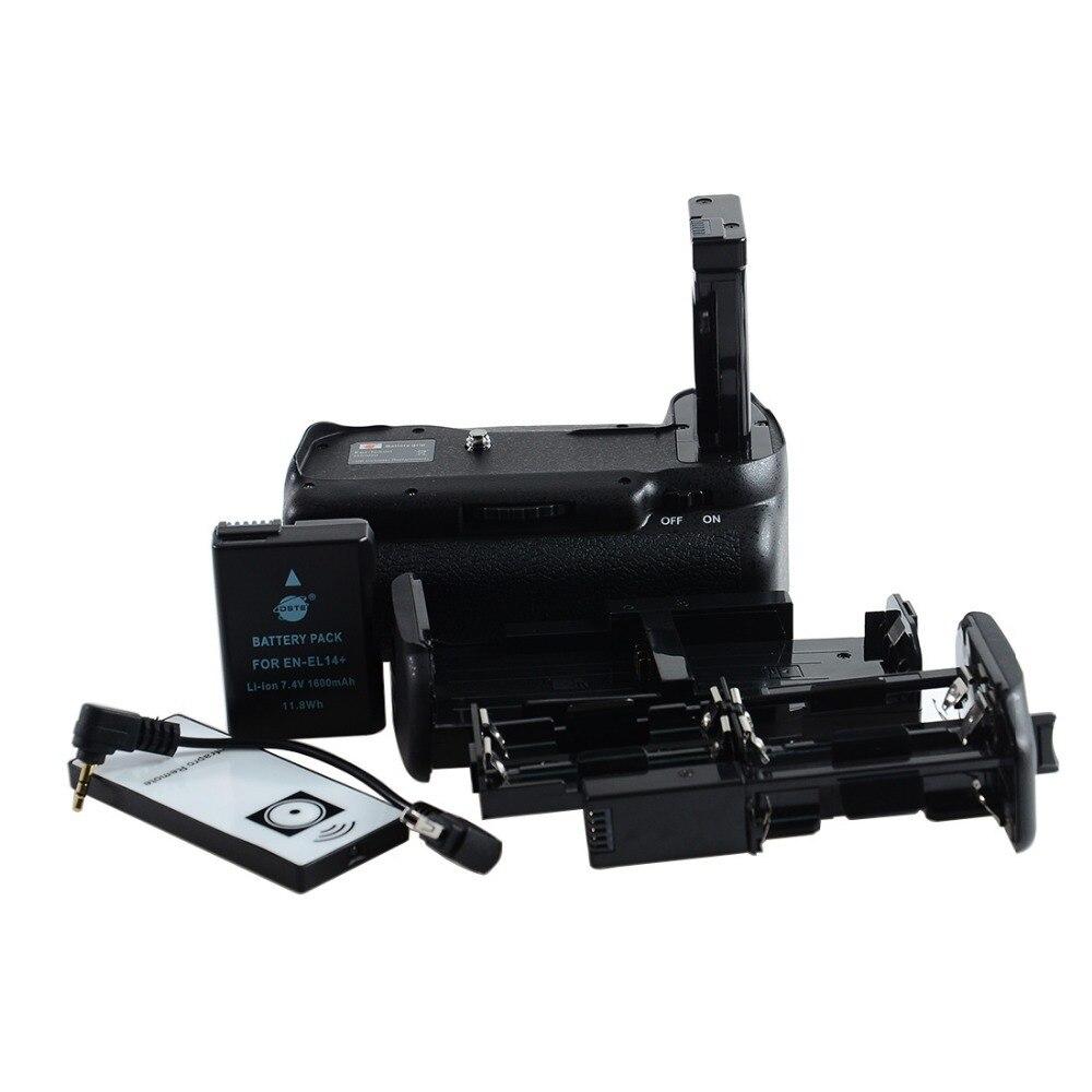 DSTE Отдаленных Вертикальная Ручка-Держатель Аккумуляторов + EN-EL14 en-el14 аккумулятор Для Nikon D5500 Цифровые ЗЕРКАЛЬНЫЕ ФОТОКАМЕРЫ
