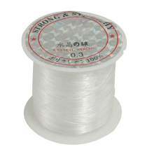 Beading Thread 0 3mm Dia Clear Nylon Fishing LIne Spool 17 Lbs