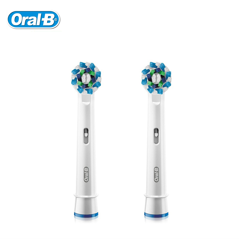 цена на Oral-B Electric Toothbrush Heads Cross Action EB50 German Import Genuine OralB Tooth Brush Head Original Oral B Replaceable Head