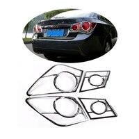 For Chevrolet Cruze Sedan 2009 2010 2011 2012 2013 2014 ABS Chrome Rear Tail Light Lamp Taillight Cover Trim Frame Sticker 4pcs