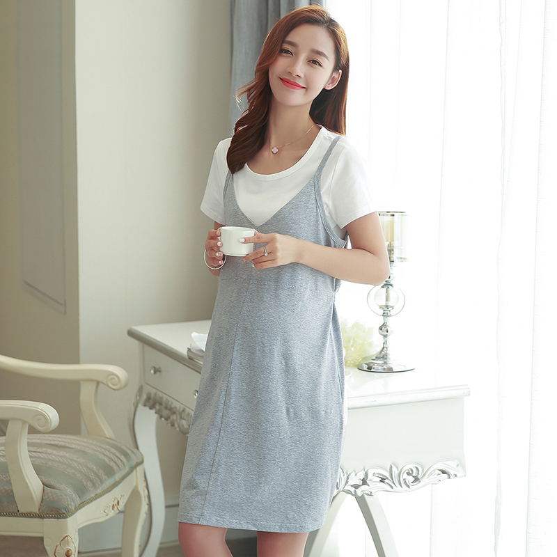 ФОТО Pregnant Clothing Cotton Summer Maternity Dress Tunic Wear Big Sizes Ropa Embarazada Maternity Tshirt Dress Pregnancy 502095