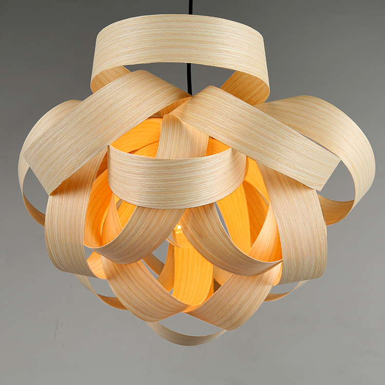 Bamboo modern pendant lights for dining hall living room study Hotel Club Villa Project customization pendant lamps ZAG