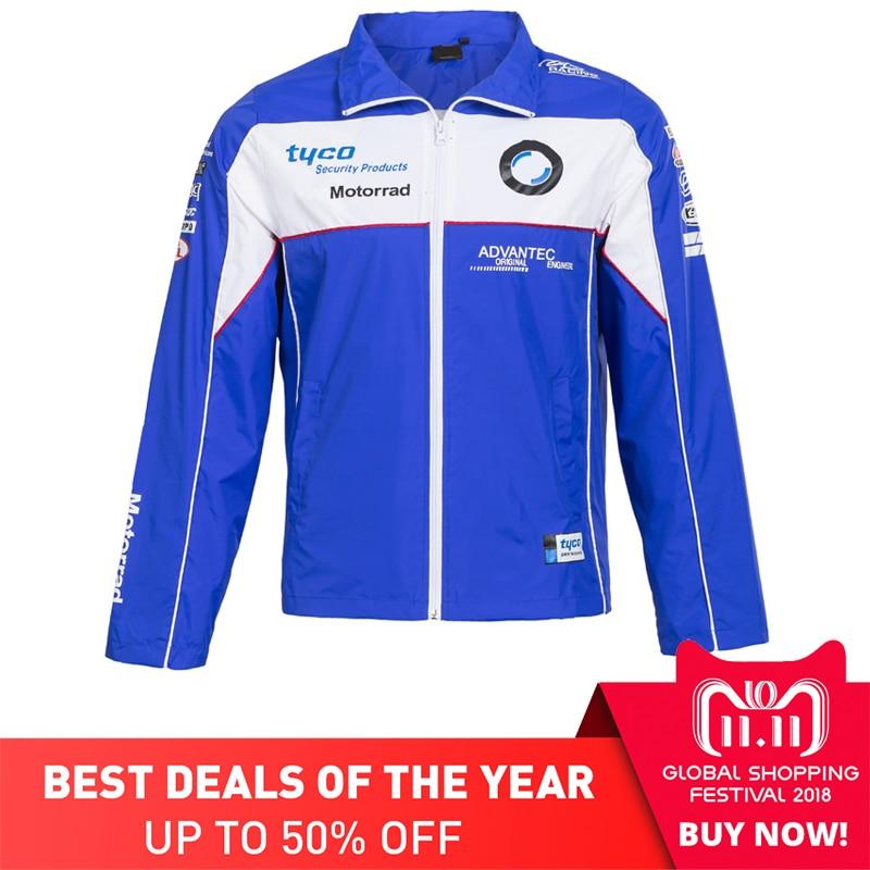 2018 Tyco Motorcycle Windbreaker For BMW Racing Team Zipper Sport Jacket Motocross Racing Coat Mesh Moto GP Fans Clothing S XXL цена