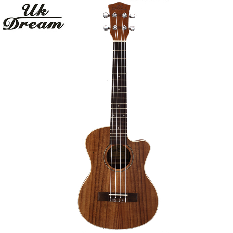 26 Inch Hawaiian Guitar Travel Guitars Professional Small Classic 18 Frets Chipping Guitars Rosewood 4 strings Ukulele UT-C8Q zebra professional 24 inch sapele black concert ukulele with rosewood fingerboard for beginner 4 stringed ukulele instrument