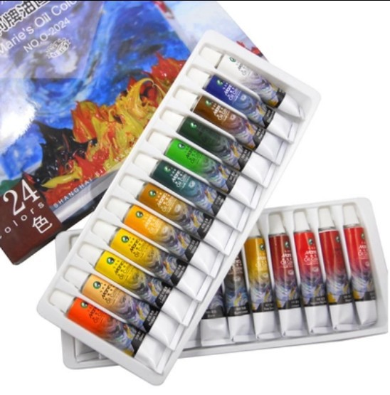 цена на Marie's brand oil paint finest artist's art painting supplies 24 colors/box 12ml/piece