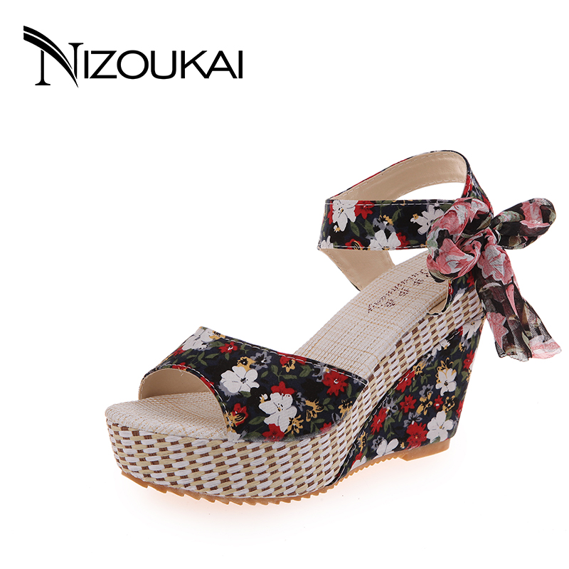 New Arrival Ladies Sandals Women Sandals Summer Open Toe Fashion Platform High Heels Wedge Sandals Female Shoes Women new fashion women high platform wedge sandals open toe buckle strappy gold rivet sandals ladies casual and party shoes sandals