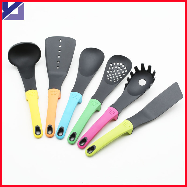 Kitchen Gadget 6 Pcs Dinnerware Sets Nylon Slotted Spatula Noodle Spoon  Cooking Cookware Utensils Tools