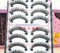 New 10 Pairs Black Long Hand made false eyelashes fake eye lashes Crisscross Makeup Beauty Tool 232#